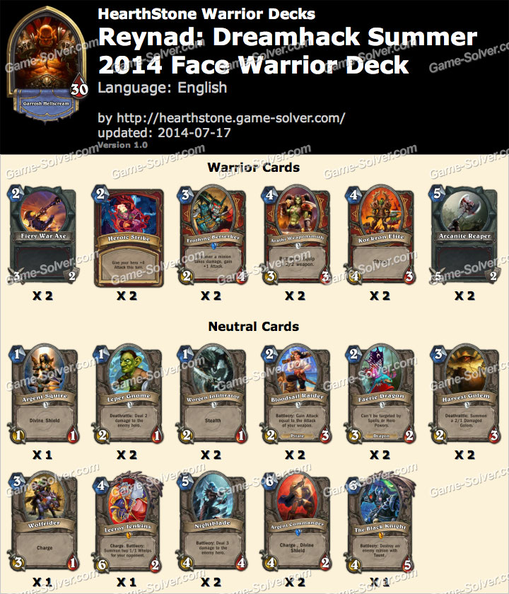 Reynad-Dreamhack-Summer-2014-Face-Warrior-Deck
