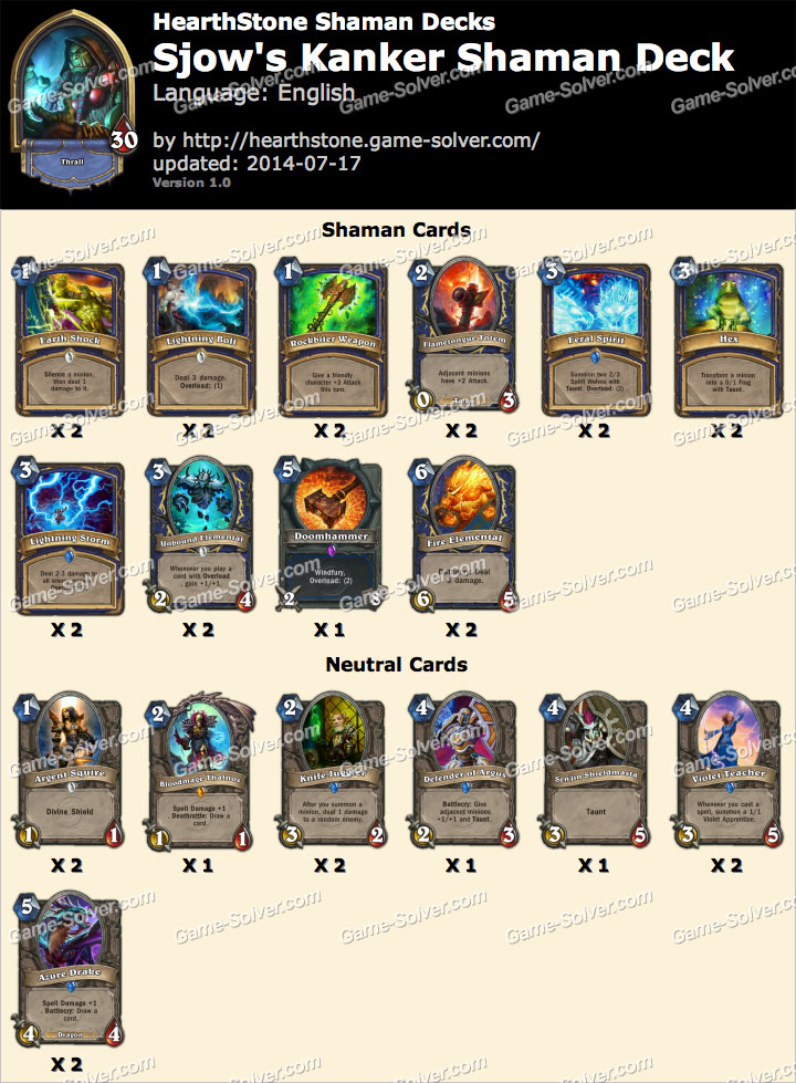 how to play against shaman hearthstone