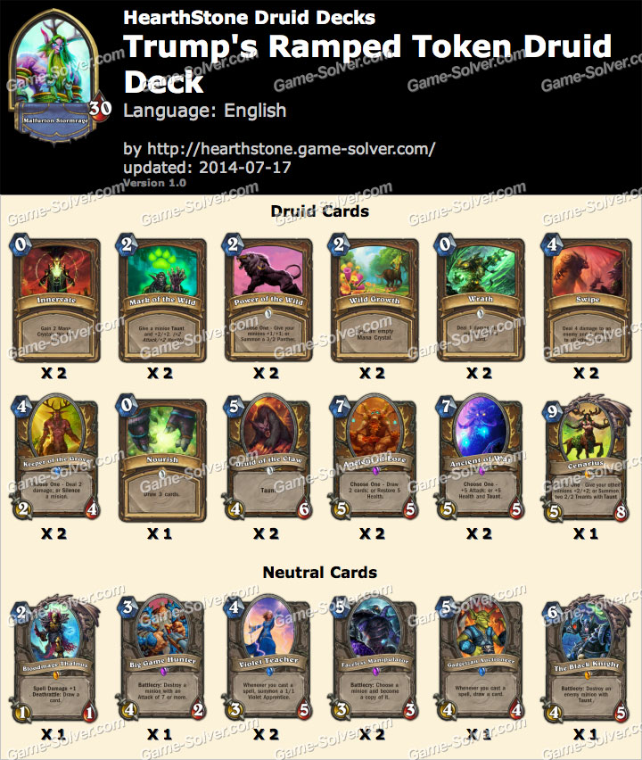 Trump-Ramped-Token-Druid-Deck